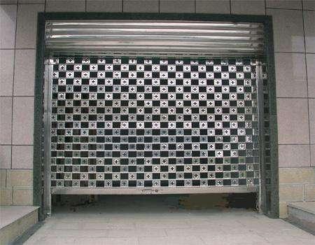 不锈钢花格网状卷帘门